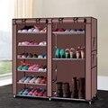 Двухрядная стойка для обуви из сплава и пластика 9 решеток органайзер для хранения обуви башенный шкаф для обуви с дверями Для дома-в наличи...