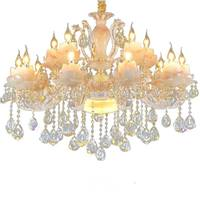 french luxury crystal chandelier living room bedroom Home Lighting luxury imitation jade lamp for bedrooms chandelier suspension