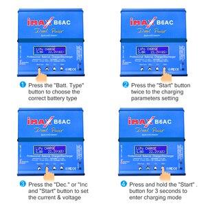 Image 5 - HTRC iMAX B6 AC RC מטען 80W B6AC 6A כפולה ערוץ איזון מטען דיגיטלי LCD מסך ליתיום Nimh Nicd lipo סוללה פורק
