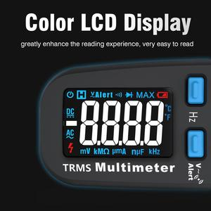 Image 3 - BSIDE Модернизированный Цифровой мультиметр цветной ЖК цифровой мультиметр 6000 отсчетов TRMS авто диапазон напряжения Ампер Ом Гц колпачок темп диод