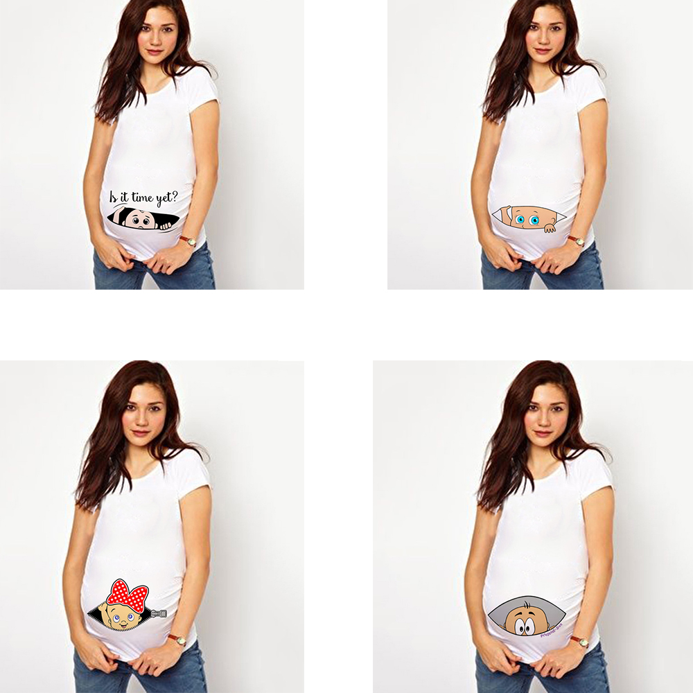 It's A Girl Maternity Plus Size Tees Tops Summer Pregnant Maternity T-Shirt Short Sleeve Casual Pregnancy Clothes Funny Clothing