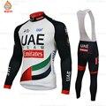 Теплый термальный Велоспорт Джерси 2019 Pro команда ОАЭ зимняя флисовая одежда для велоспорта Велоспорт комбинезон набор Ropa Ciclismo триатлон
