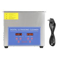 Stainless Steel Ultrasonic Cleaner Bath Digital Ultrasonic Cleaning Tank for Coins Nail Tool Part 6L/ 10L