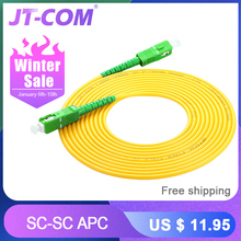 10pcs SC/APC Fiber Optic Patch Cord Cable SM SC-SC
