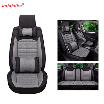 Kalaisike Flax Universal Car Seat cover for Cadillac all models ATS CT6 CTS SRX ATSL SLS XTS car styling auto accessories