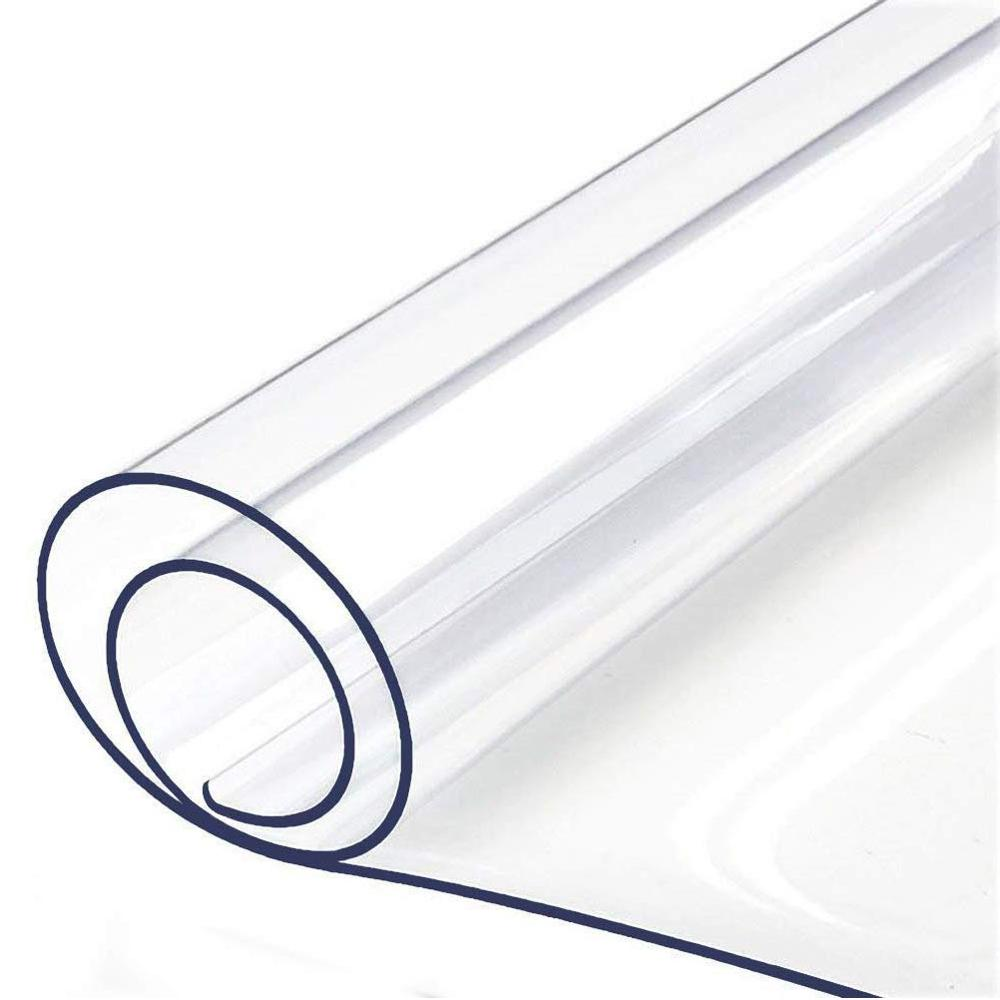 Furniture Table Protector Thick Clear PVC Tablecloth Desk Pad Wipeable Dining Tabletop Cover Easy Clean Waterproof Placemats