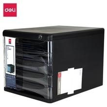 DELI Creative Multifunctional 4 Grid Desktop Organizer Pen Holder Makeup Storage Box School Office Accessories Stationery