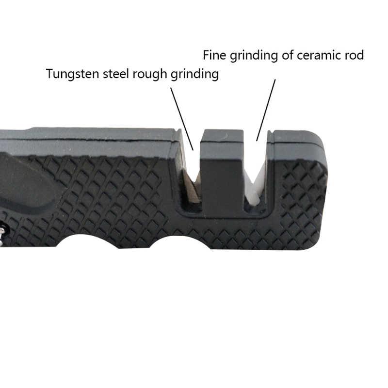 Tungsten Ceramic Carbide Knife Pocket Diamond Tool Scissor Sharpen Fish Whetstone Sharpener Outdoor Multi Hook Camp Multipurpose