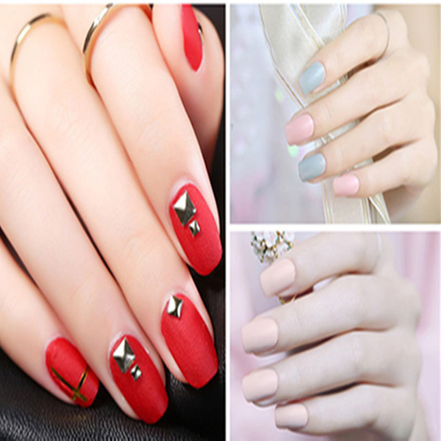 Zation Matte Top Coat Nail Art Uv Gel Lucky for Manicure Easy Cleaning Gel Varnish Lacquer Healthy and Nontoxic Acrylic Glue 3