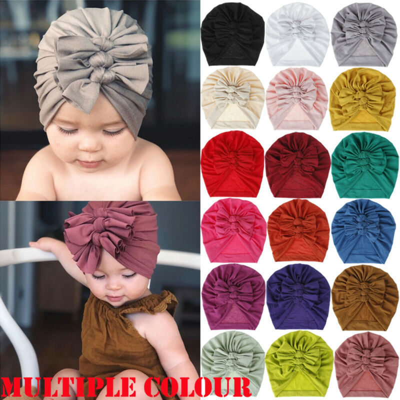 Pudcoco 2019 New Brand Fashion Baby Toddler Girls Kids Bunny Rabbit Bow Knot Turban Headband Hair Band Headwrap