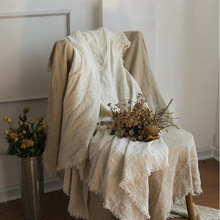 INS Style Linen Material Photo Background Cloth For Rattan S