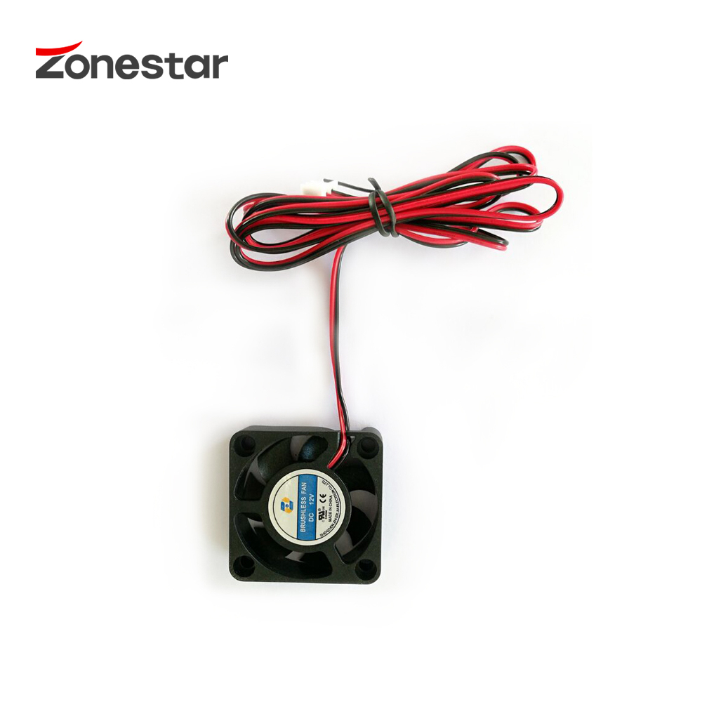 ZONESTAR Extruder Cooling Fan 40x40x10mm DC12V DC24V Current 0.12A Parts Accessories Printer 3D dengan 1m Wire XH-2 Connector