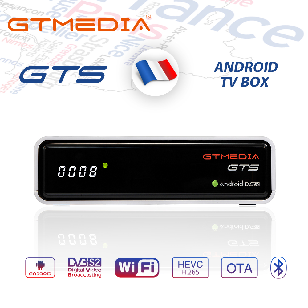 GTMEDIA GTS 4K Android TV Box Receptor DVB-S2 Bluetooth Satellite Receiver Support Cccam IPTV M3u TV Box PK Freesat V8 Nova