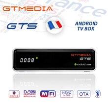 GTMEDIA GTS 4K Android TV Box Rezeptor DVB S2 Bluetooth Satellite Receiver unterstützung Cline m3u TV Box PK freesat v8 nova