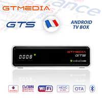 GTMEDIA GTS 4K Android TV Box récepteur DVB-S2 Bluetooth récepteur Satellite prise en charge Cccam IPTV m3u TV Box PK freesat v8 nova