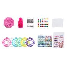 1pcs/set Girls DIY Makeup Toy Fake Nail Stickers Girl Cartoon Patch Handmade Toys Birthday Gifts