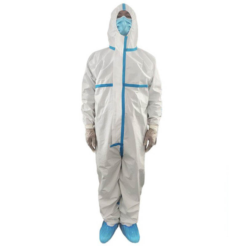 Disposable Labor Security Dust Spray Suit White Jumpsuits Composite Material Waterproof Protection Suit