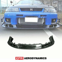 AS Style FRP Fiber Glass Unpainted For Nissan R33 Skyline GTR Front Bumper Lip Exterior Body kits Car accessories