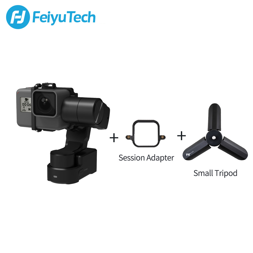 FeiyuTech WG2X Wearable Mountable Action Camera Gimbal Splash proof Stabilizer for GoPro Hero 7 6 5 4  Sony RX0 Action Camera-in Handheld Gimbals from Consumer Electronics