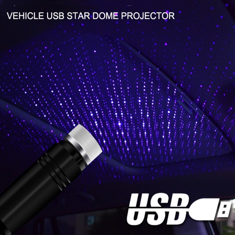 Adjustable Multiple Lighting Effects Atmosphere Galaxy Lamp LED Car Roof Star Night Light Projector USB Decorative Lamp