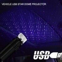 Ayarlanabilir çoklu aydınlatma efektleri atmosfer Galaxy lamba LED araba çatı yıldız gece lambası projektör USB dekoratif lamba