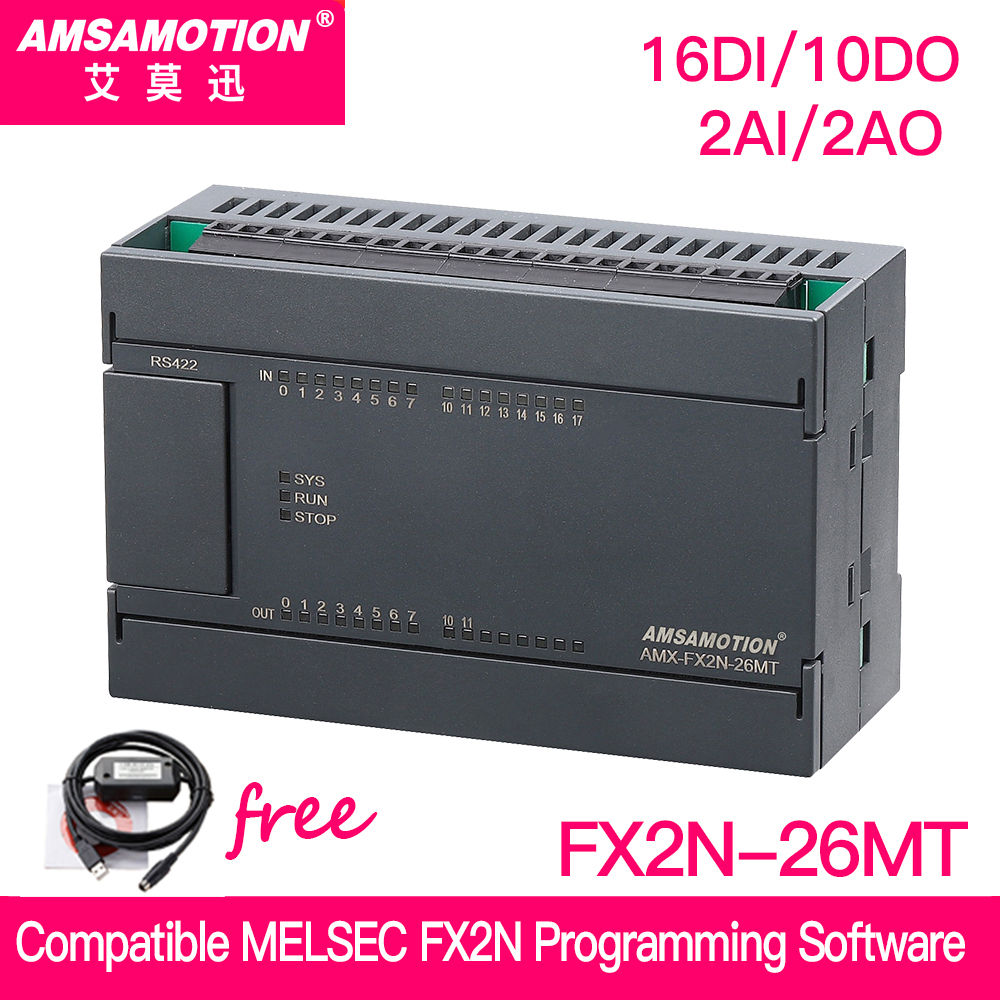 Promotion!!! Compatible MELSEC FX2N PLC 2AI/1AO 16DI/10DO MODBUS Function USB-SC09-FX Cable For Free Mitsubishi FX2N-26MT