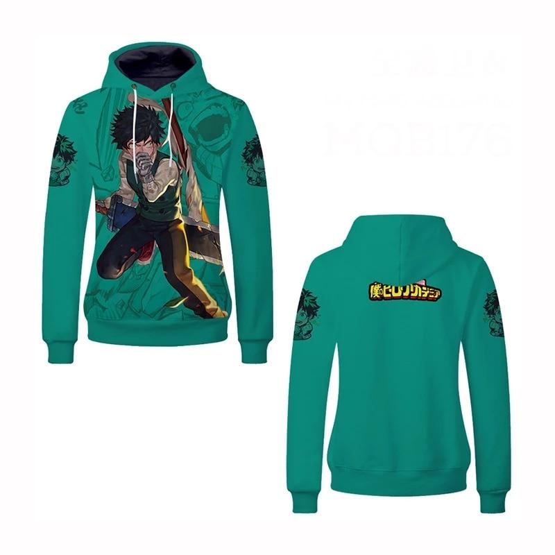 Mon héros Academia bakugo Caoutchouc 3D Sweat À Capuche Hommes Femmes Sweat à capuche cosplay Sweatshirts