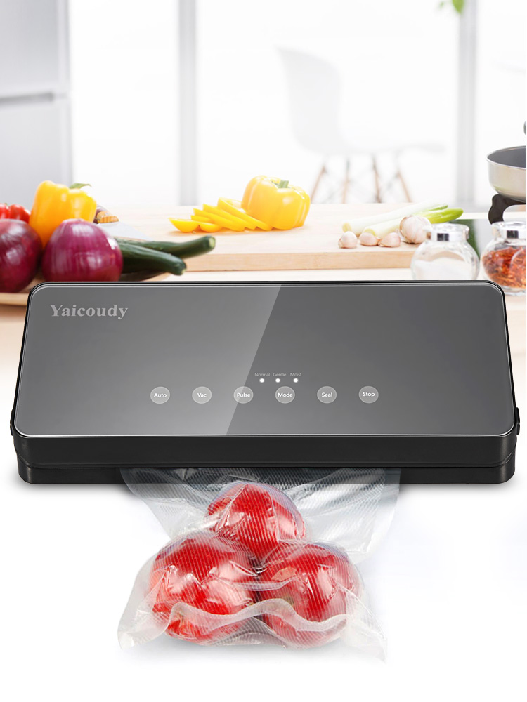 White Dolphin Food Vacuum Sealer With 10pcs Food Storage Bags And Hose Home Electric Vacuum Sealer Packing Machine 220V 110V