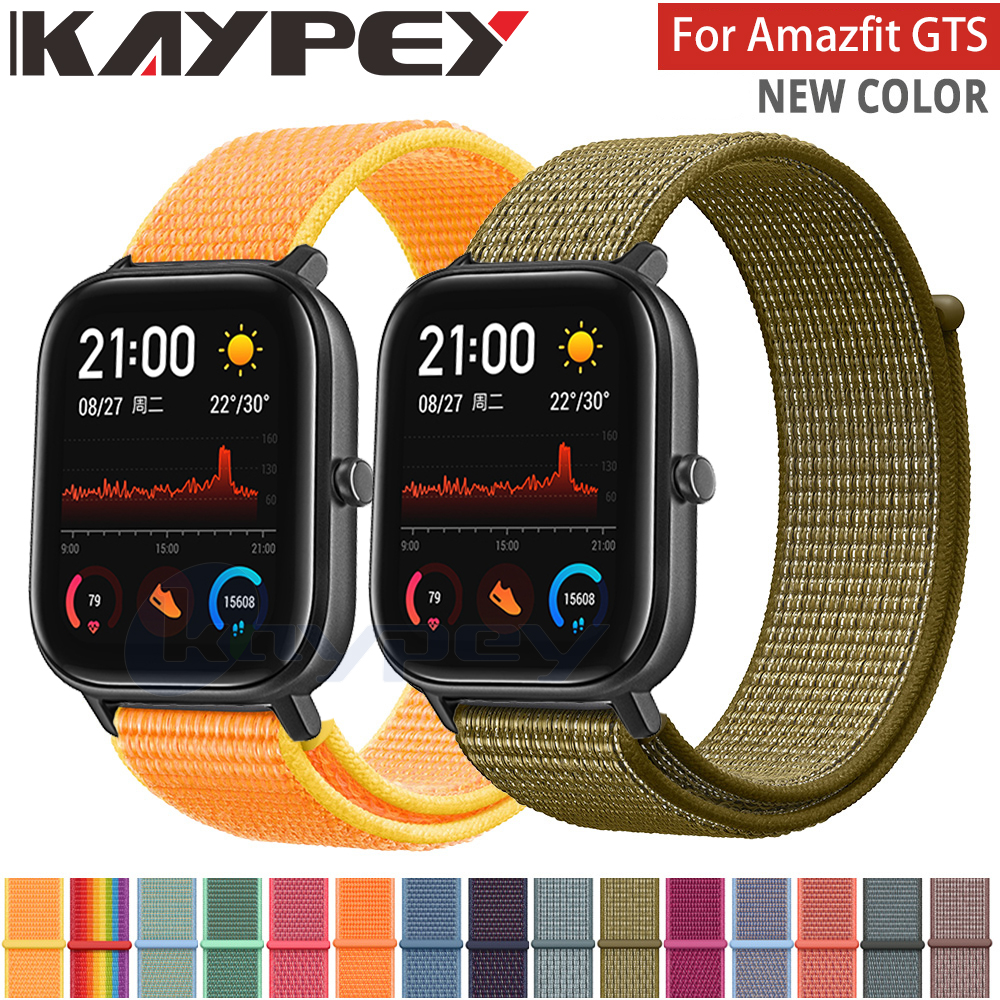 20mm Sport Nylon Strap For Amazfit GTS Strap Bracelet For Xiaomi Huami Amazfit Bip/GTR 42mm Smart Watch Wearable Wrist Bracelet
