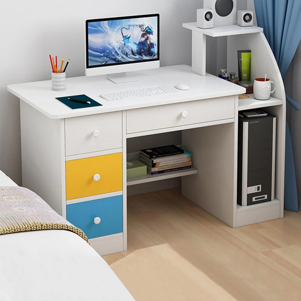 Simpleness Laptop Computer Desk With Drawer Shelf Office Home Modern Small Desk Aliexpress