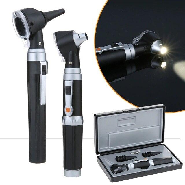 전문 Otoscopio 귀 청소기 의료 Otoscope 세트 XHL 전구 진단 홈 여행 의사 성인 키즈 귀에 대한 8 팁