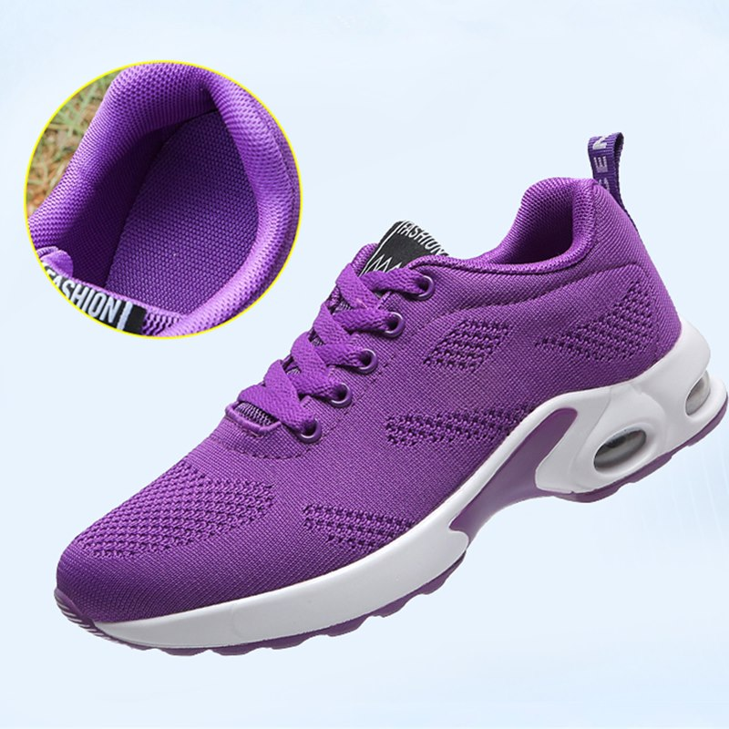 Fashion Women Sneakers Running Shoes Outdoor Sports Shoes Breathable Mesh Comfort Jogging Mesh Shoes Air Cushion Lace Up Ladies 2