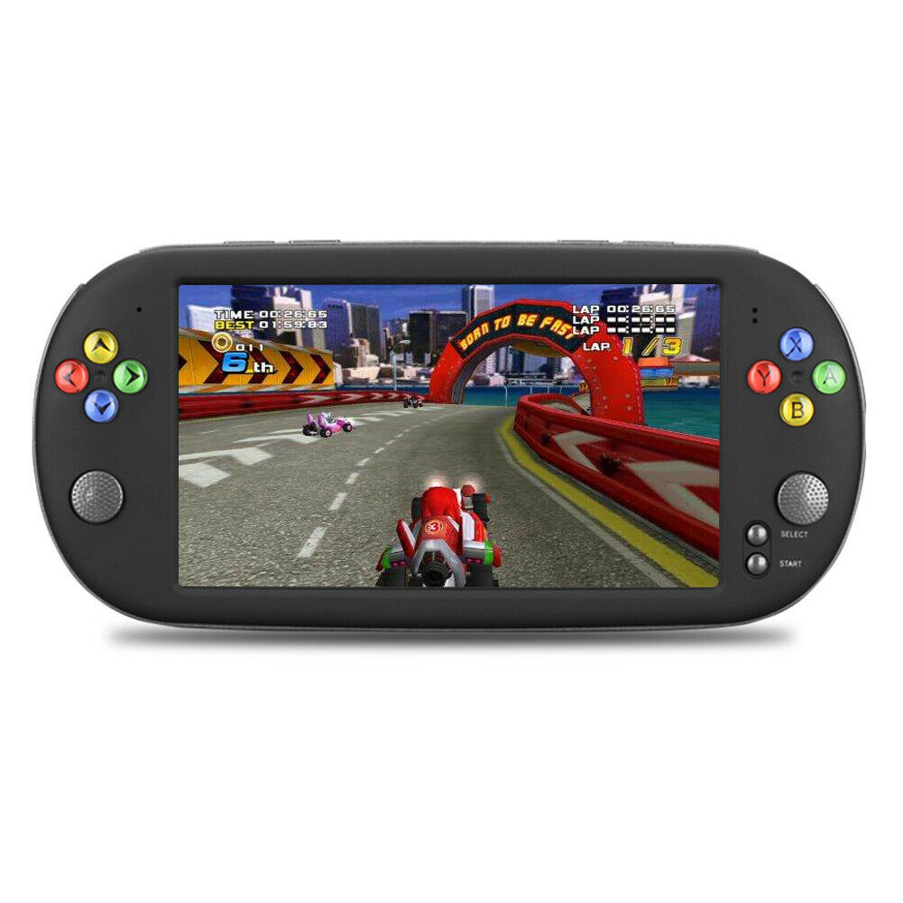X16 USB Breakpoint Memory Multifunction Retro Movies Double Rocker Player Video Music ABS Game Console Handheld 7 Inch Portable