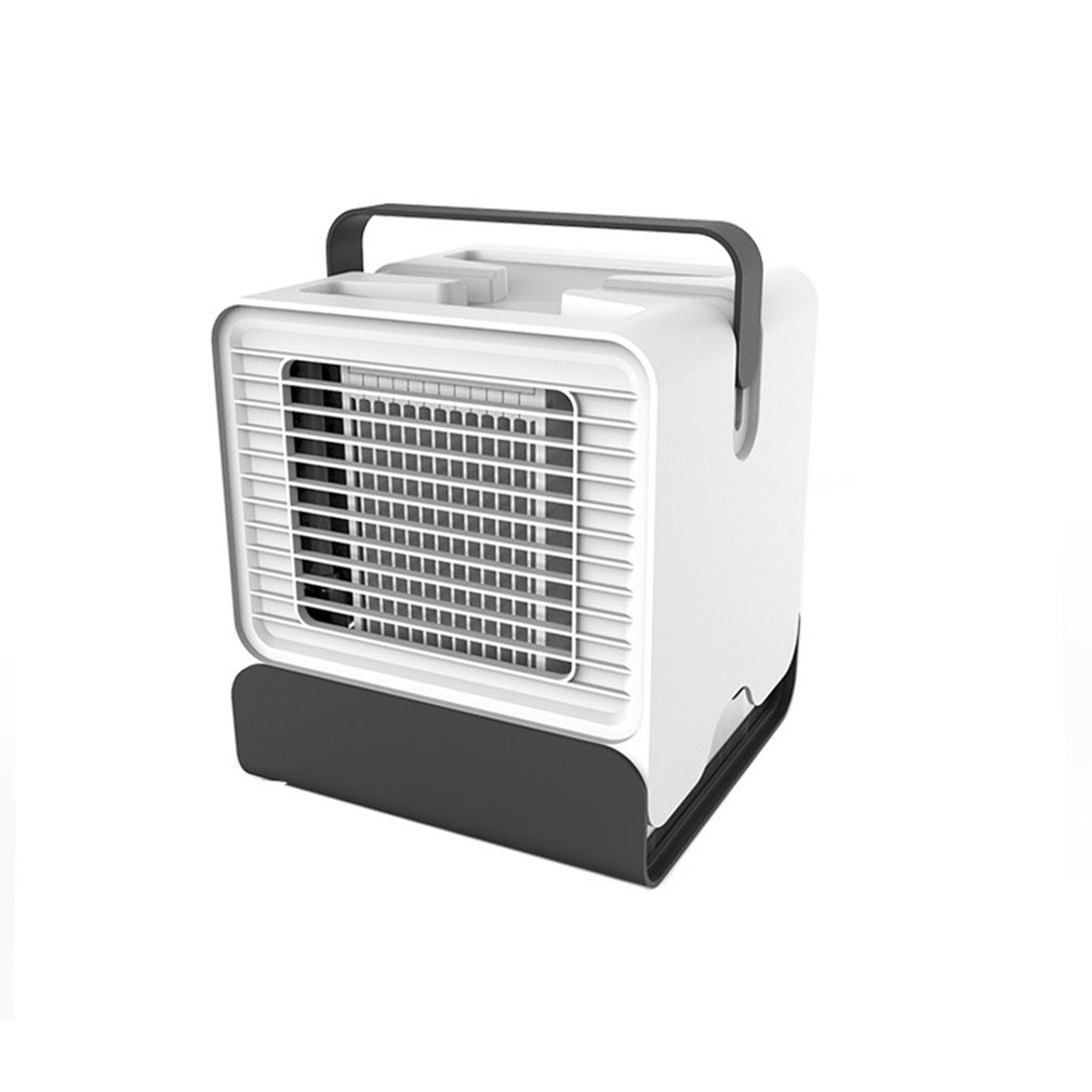 Mini USB Portable Air Conditioner Air Cooler Humidifier Purifier Light Desktop Air Cooling Fan For Office Home Black/White