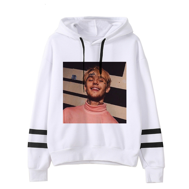 LIL PEEP THEMED STRIPED HOODIE (30 VARIAN)