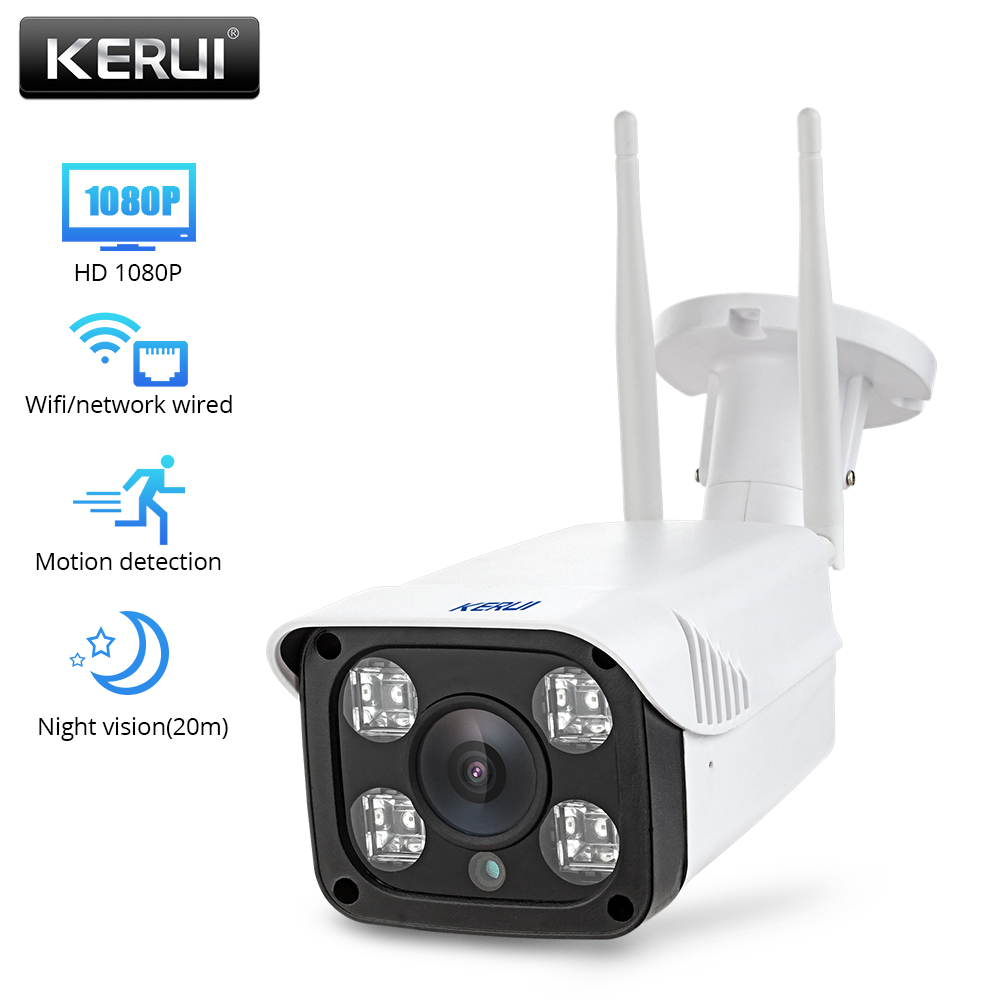 KERUI  Full HD 2.0MP 1080P Waterproof WiFi IP Camera Surveillance Wireless Outdoor Camera Security Night Vision  CCTV Camera