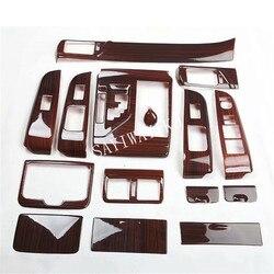 Darmowa wysyłka 15 sztuk/zestaw ABS drewniana dwoina dekoracyjny pokrowiec dla Toyota Camry 2012 2013 2014 2015 2016 2017 LHD akcesoria samochodowe w Listwy wewnętrzne od Samochody i motocykle na