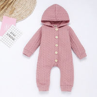 Newborn Baby Girl Boy Clothes Knitted Hoodie  Jumpsuit Bodysuit Outfits