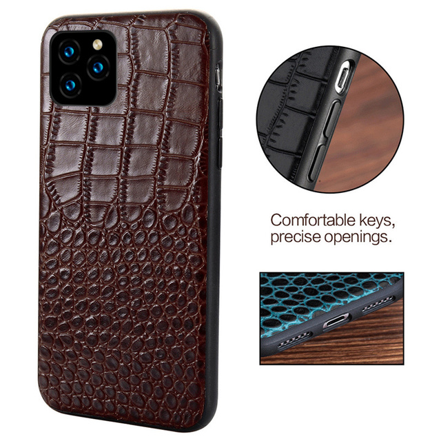 Original Leather Phone Case for Apple iphone 11 11 Pro Max X XR XS max 6 5s 6S 7 plus 8 plus se 5 360 Full protective Back Cover