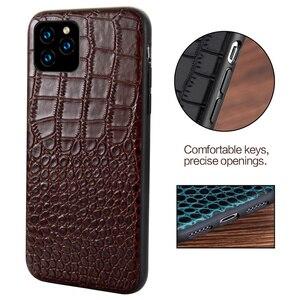 Image 3 - Étui en cuir véritable pour iPhone 12 Mini 12 Pro Max 11 Pro Max X XR XS max 5 5s 6S 6 7 8 Plus SE 2020 360 housse de protection complète