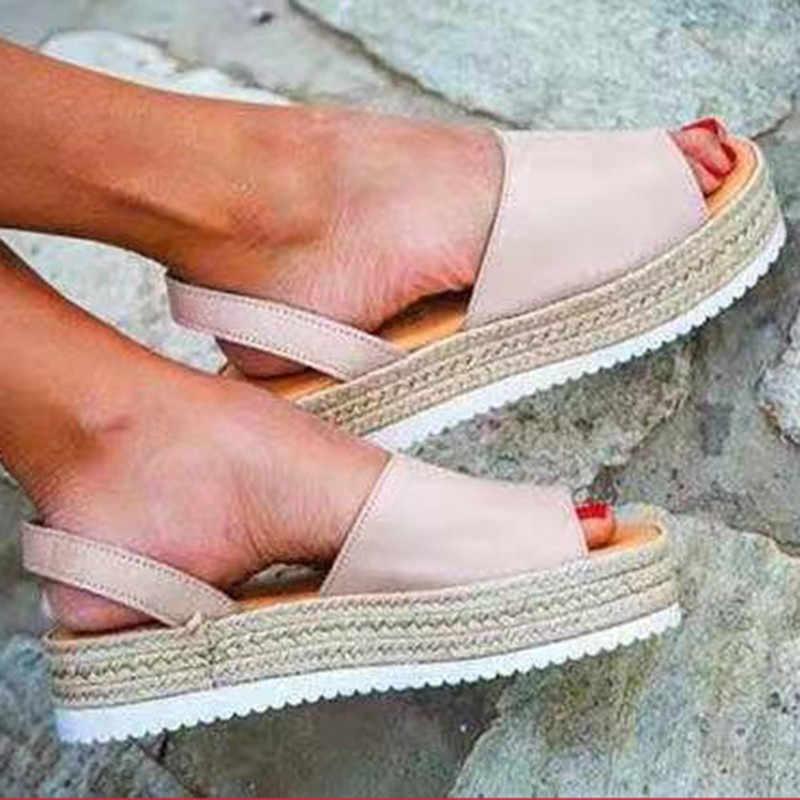 女性サンダルカジュアルゴールドハイヒールプラットフォームスエードウェッジバックルアンクルストラップの女性のパンプス結婚式の靴 Zapatos Mujer 5238 ワット