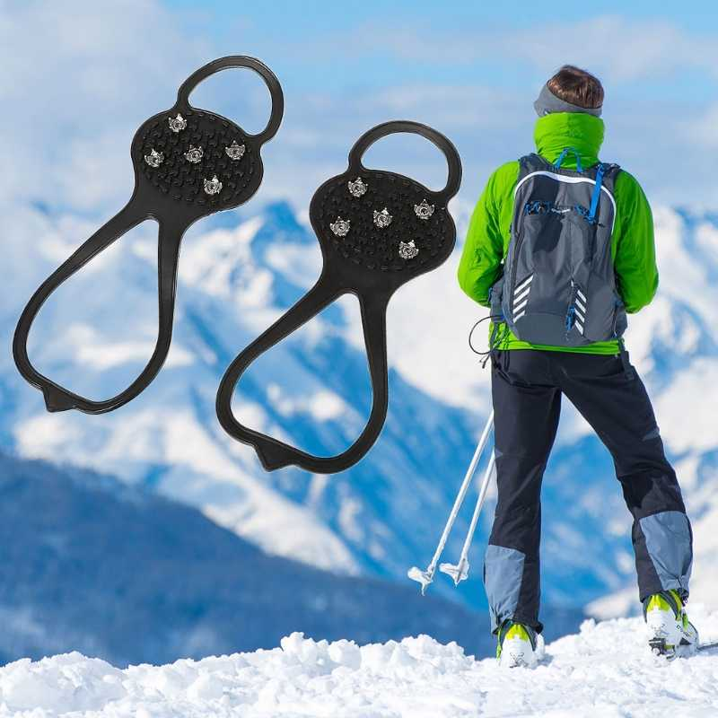 Anti Slip Ice Snow Grips Winter Camping Hiking Walking Cleat Gripper Shoes Spike