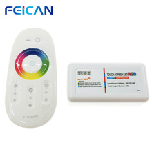 DC12-24V 2.4G RGB Group Wifi LED Controller Touch Pad RF Remote controller  By Android and IOS APP For 3528 5050 RGB LED Strip все цены