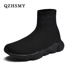 QZHSMY New Men Casual Shoes Couple Socks Shoes
