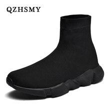 Zapatos informales transpirables para Hombre, Zapatillas cómodas con calcetines de malla, 35 47
