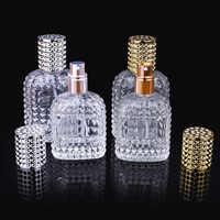 30ml 50ml Personality Transparent Glass Sprayer Pump Empty Perfume Bottle Portable Travel Parfum Atomizer Case