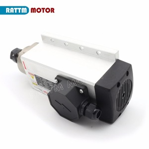 Image 4 - RU ship Square 2.2kw Air cooled spindle motor ER20 runout off 0.01mm,220V,4 Ceramic bearing for CNC Router Engraving milling
