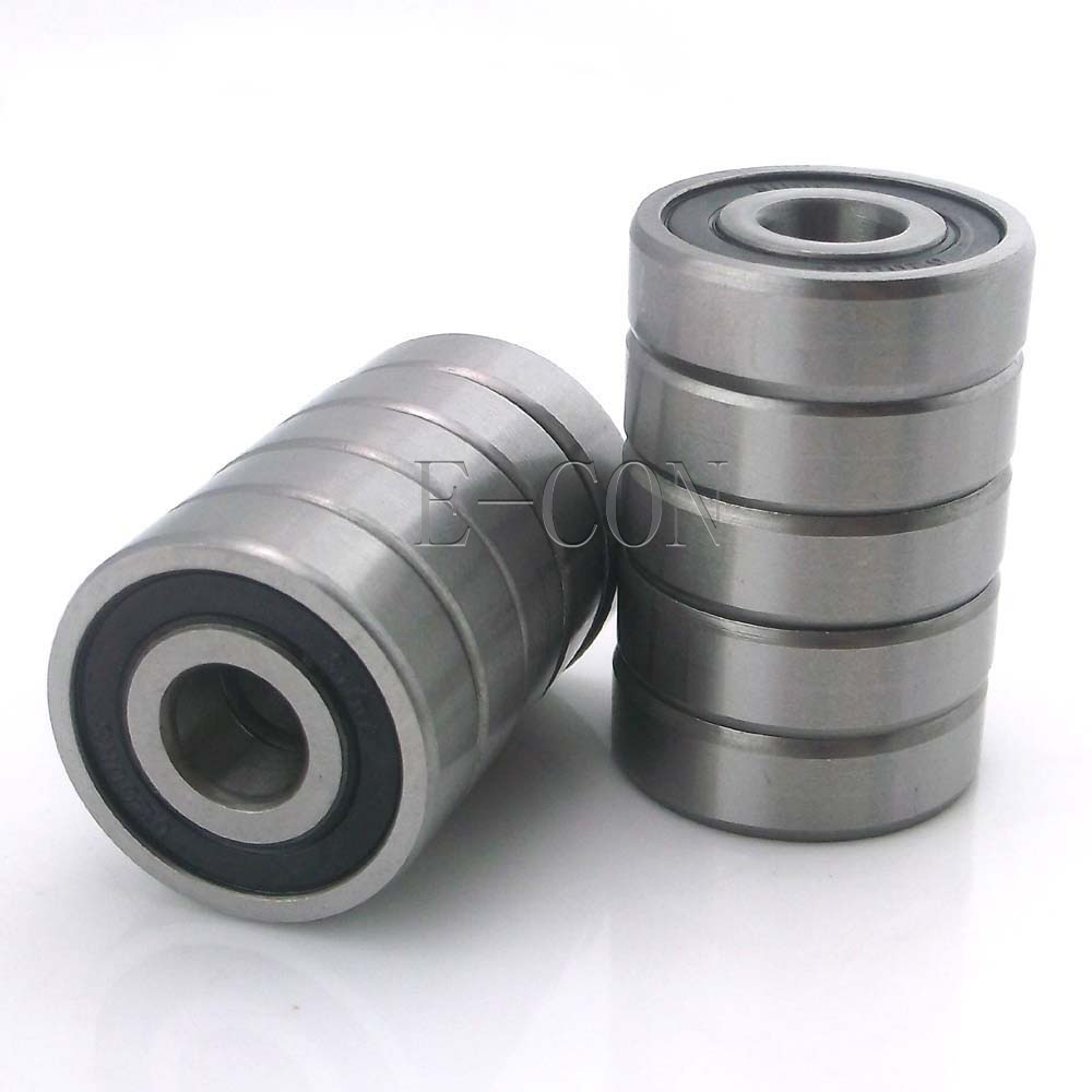 1/2/5/10PCS 6200-2RS <font><b>6200RS</b></font> Deep Groove Rubber Shielded Ball Bearing (10mm*30mm*9mm) image