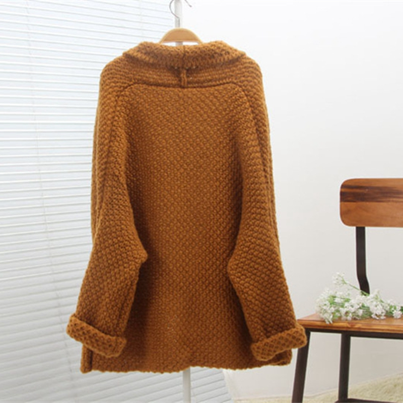 2019 Autumn Winter Fashion Women Long Sleeve Loose Elasticity Knitting Cardigan Sweater Women Knitted Female Cardigan Pull Femme in Cardigans from Women 39 s Clothing