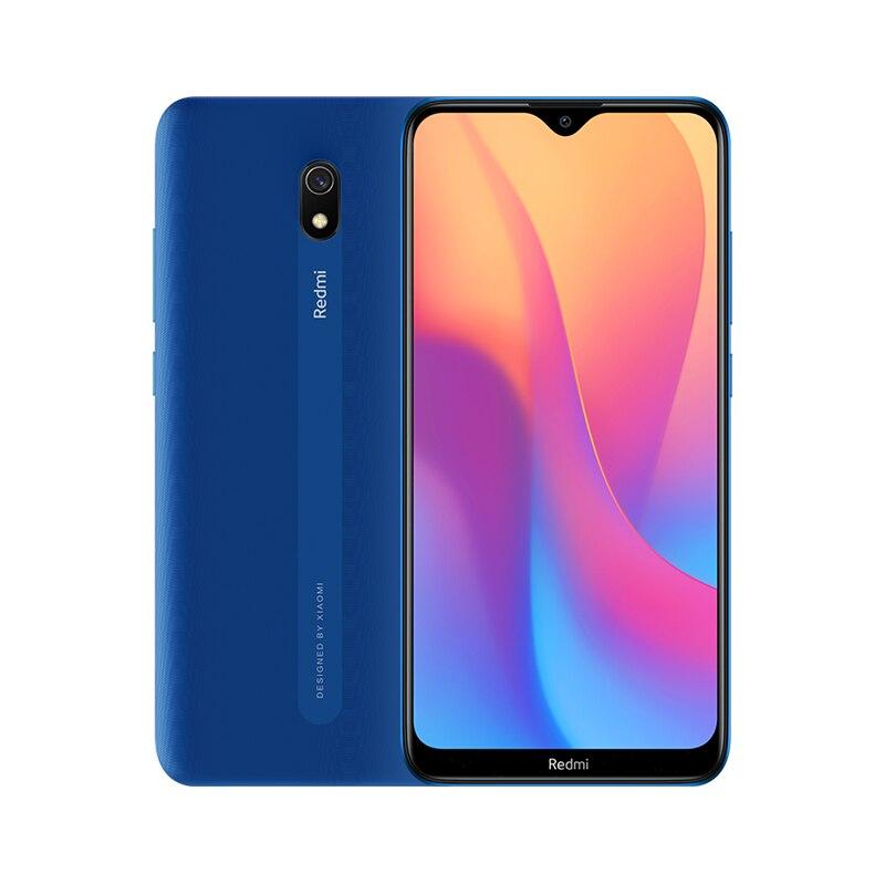 Смартфон Xiaomi Redmi 8A с глобальной версией, 2 Гб, 32 ГБ, 5000 мАч, аккумулятор высокой емкости, дисплей 6,22 дюйма, 12 МП, основная камера AI, зарядка 18 Вт - Цвет: Синий